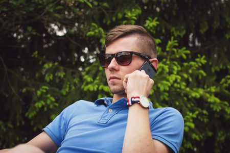 Young man talking on the phone 2