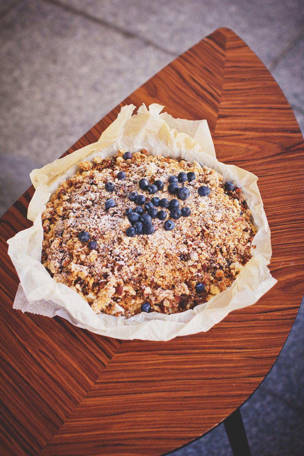 Blueberry pie - free stock photo
