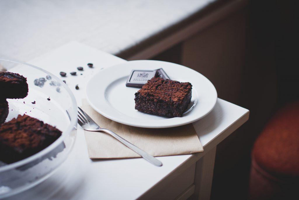 Gluten-free brownie - free stock photo
