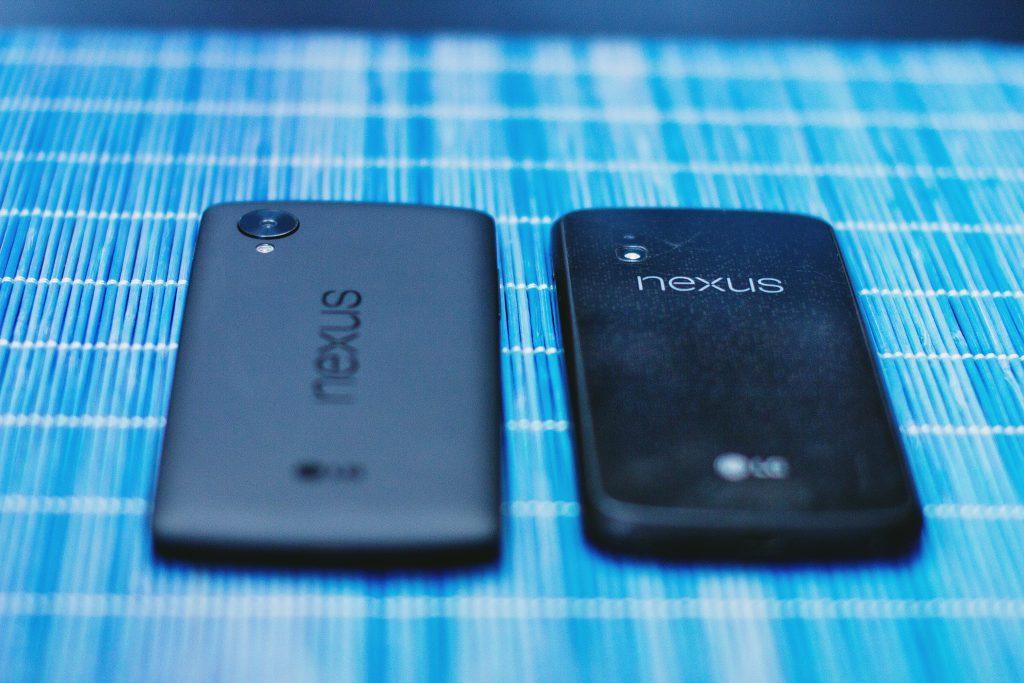 Google Nexus 4 and 5 - free stock photo