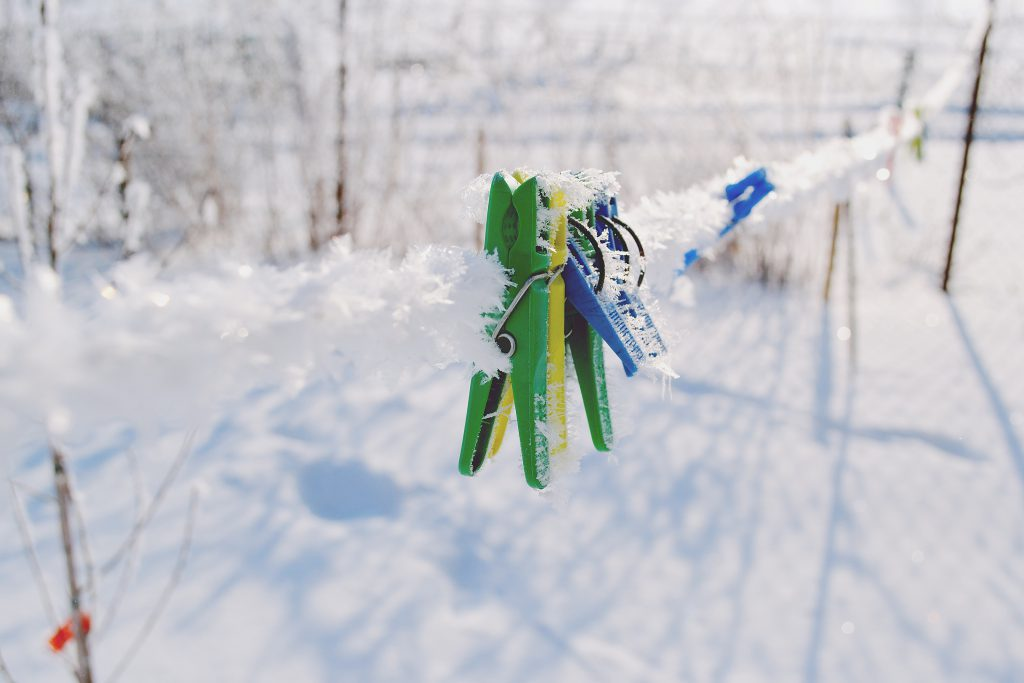 Clips in winter - free stock photo