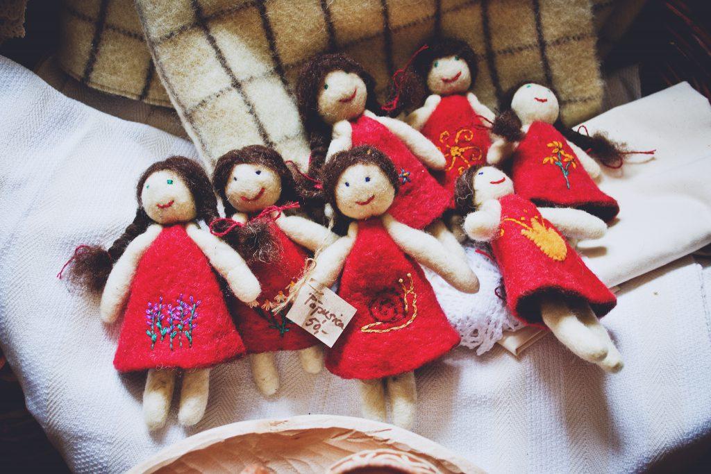 Handmade dolls - free stock photo