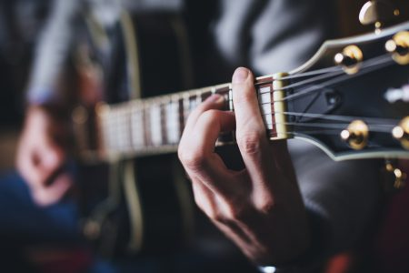 Playing guitar - free stock photo