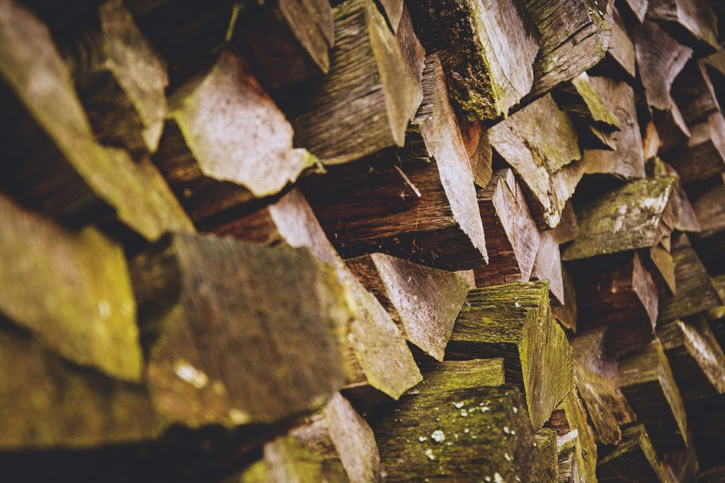 Pile of wood - free stock photo