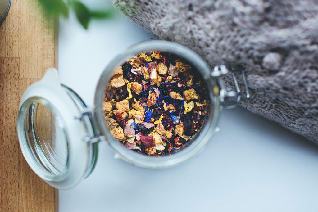 Jar of tea - free stock photo