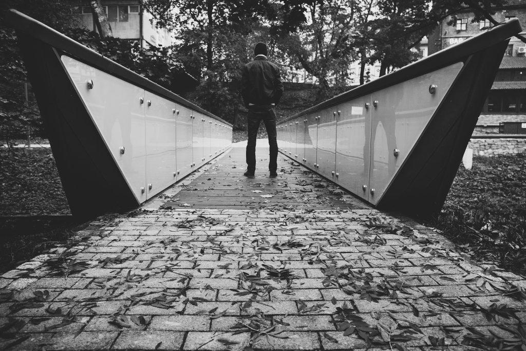 Man on the bridge - free stock photo
