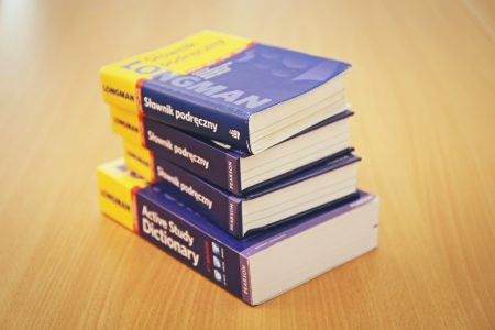 Stack of dictionaries - free stock photo