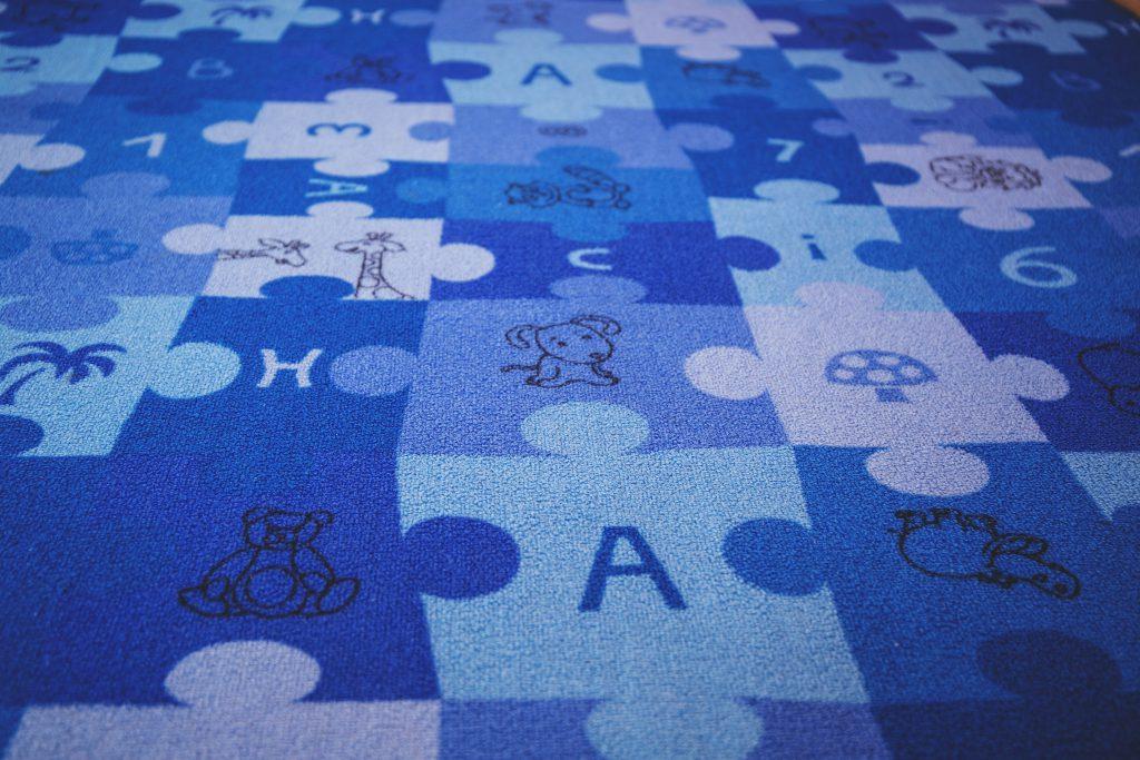 Puzzle carpet - free stock photo