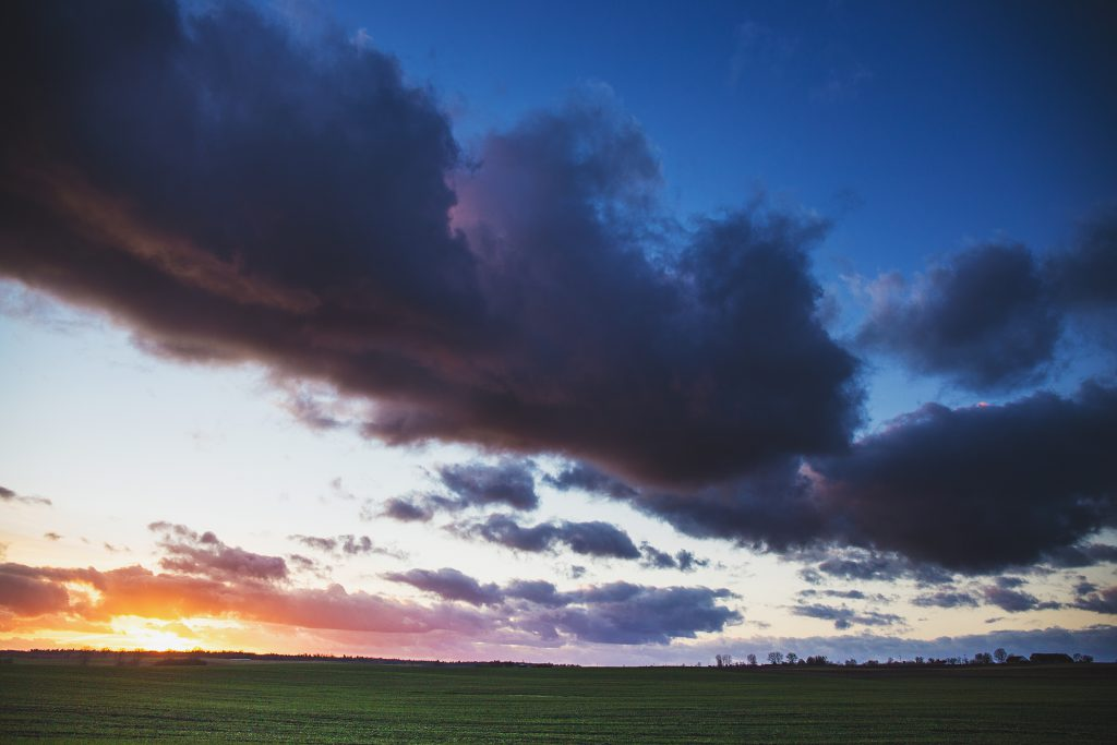 Colorful sunset - free stock photo