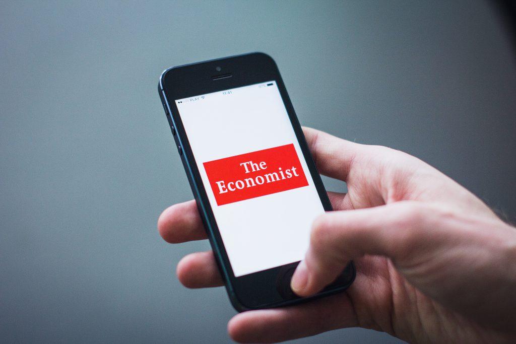 The Economist app on iPhone - free stock photo