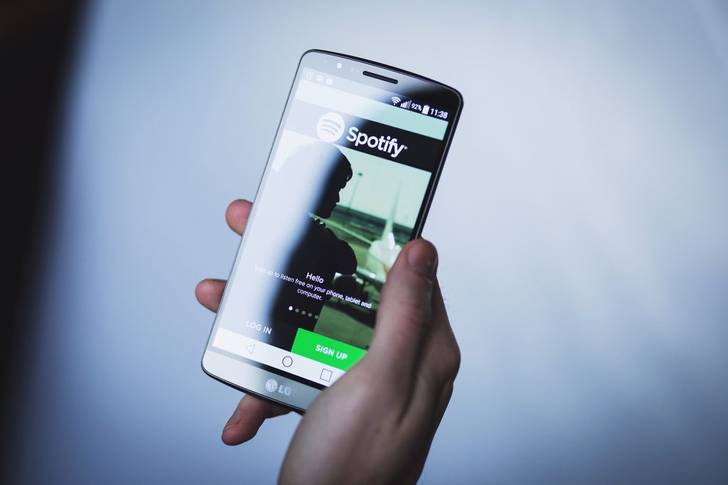 Spotify app on Android - free stock photo