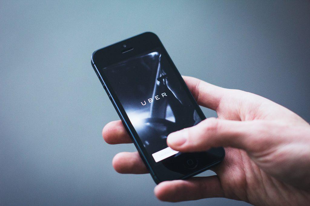 Uber App on iPhone - free stock photo