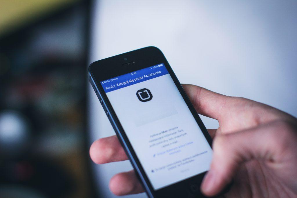 Uber Facebook login - free stock photo