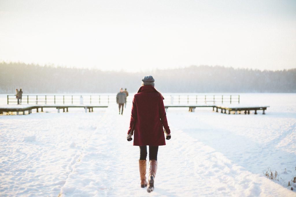 Girl walking - free stock photo