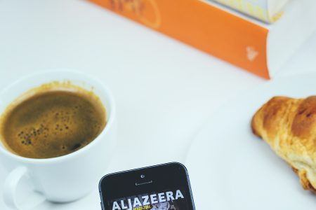 Al Jazeera app - free stock photo