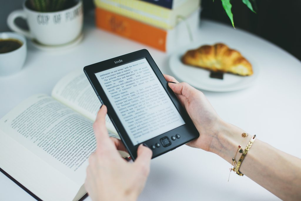 Book or Kindle? - free stock photo