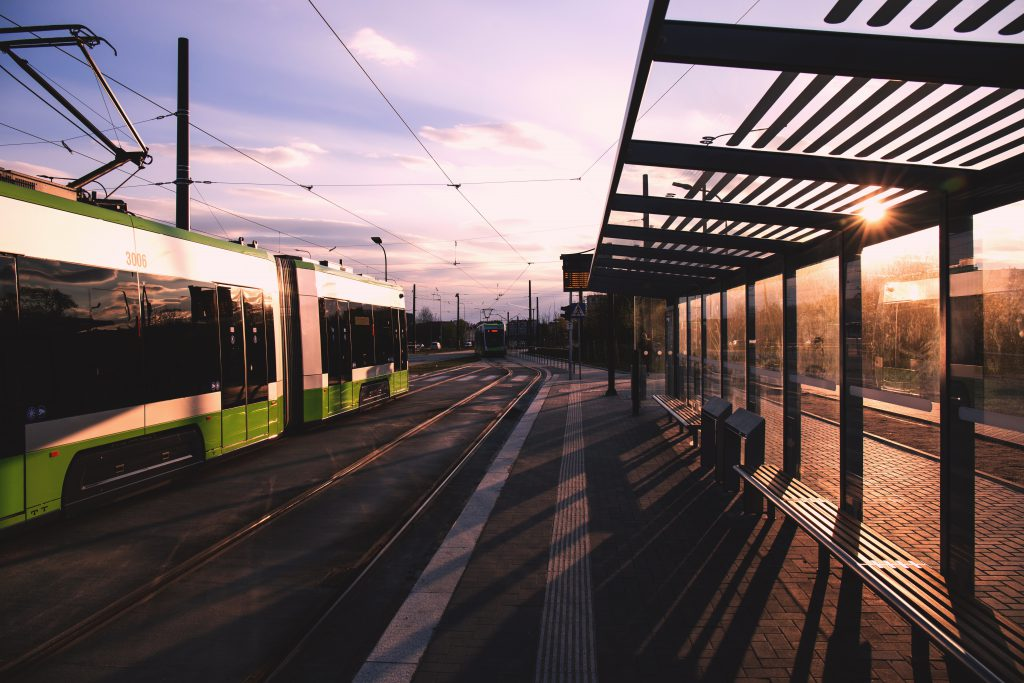 Tram stop - free stock photo