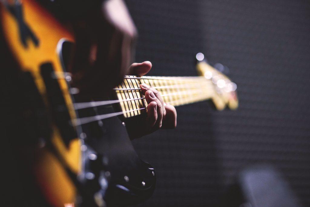 Bass player - free stock photo