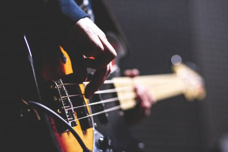 Bass player 2 - free stock photo