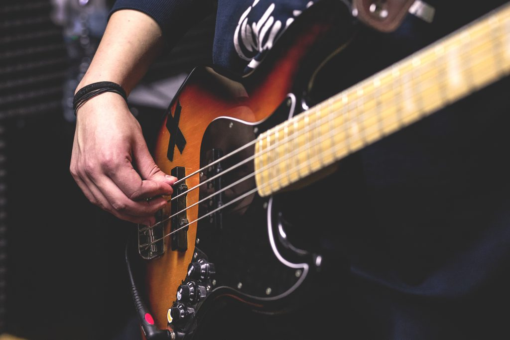 Bass player 3 - free stock photo
