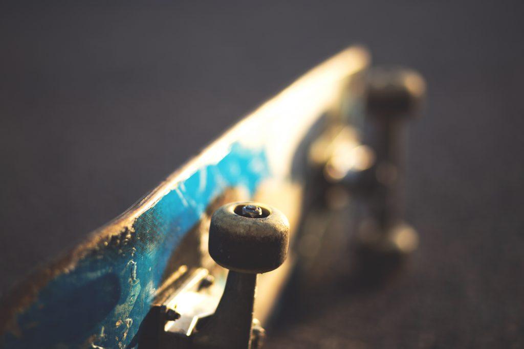 Laying skateboard - free stock photo
