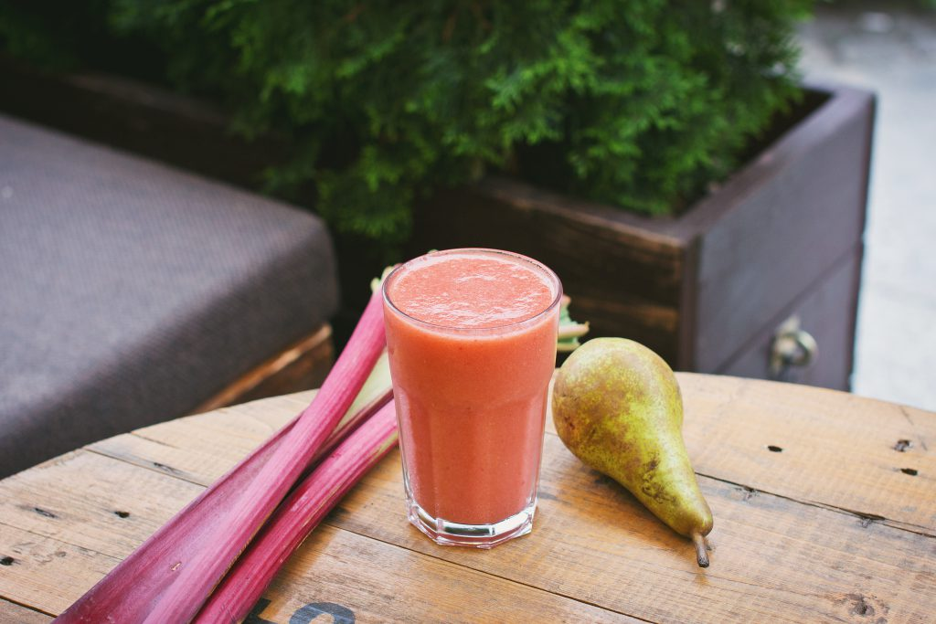 Pear and rhubarb smoothie - free stock photo
