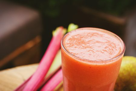 Pear and rhubarb smoothie 2 - free stock photo