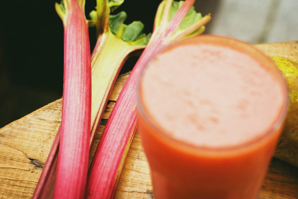Pear and rhubarb smoothie 3 - free stock photo