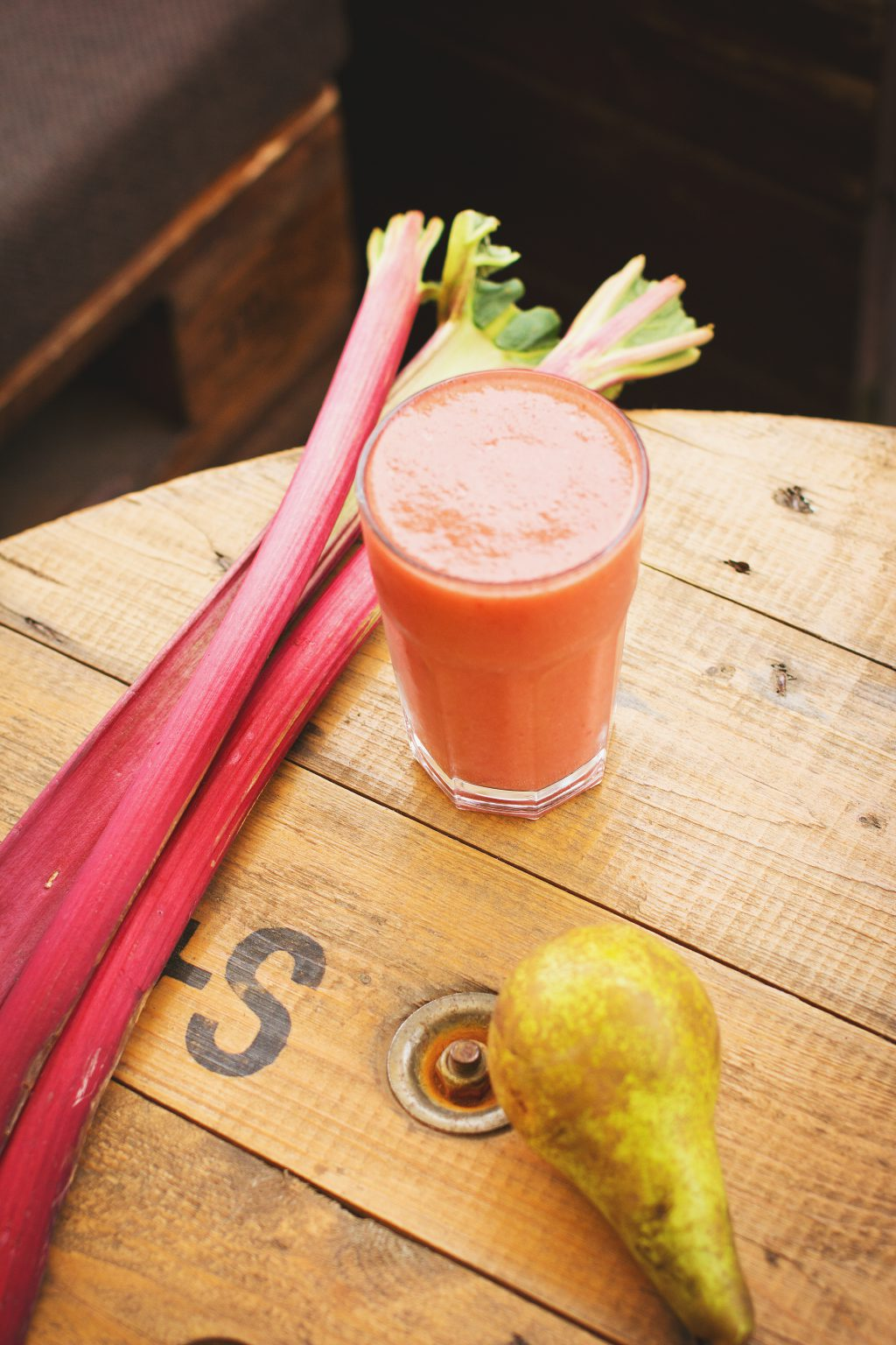 Pear and rhubarb smoothie 6 - free stock photo