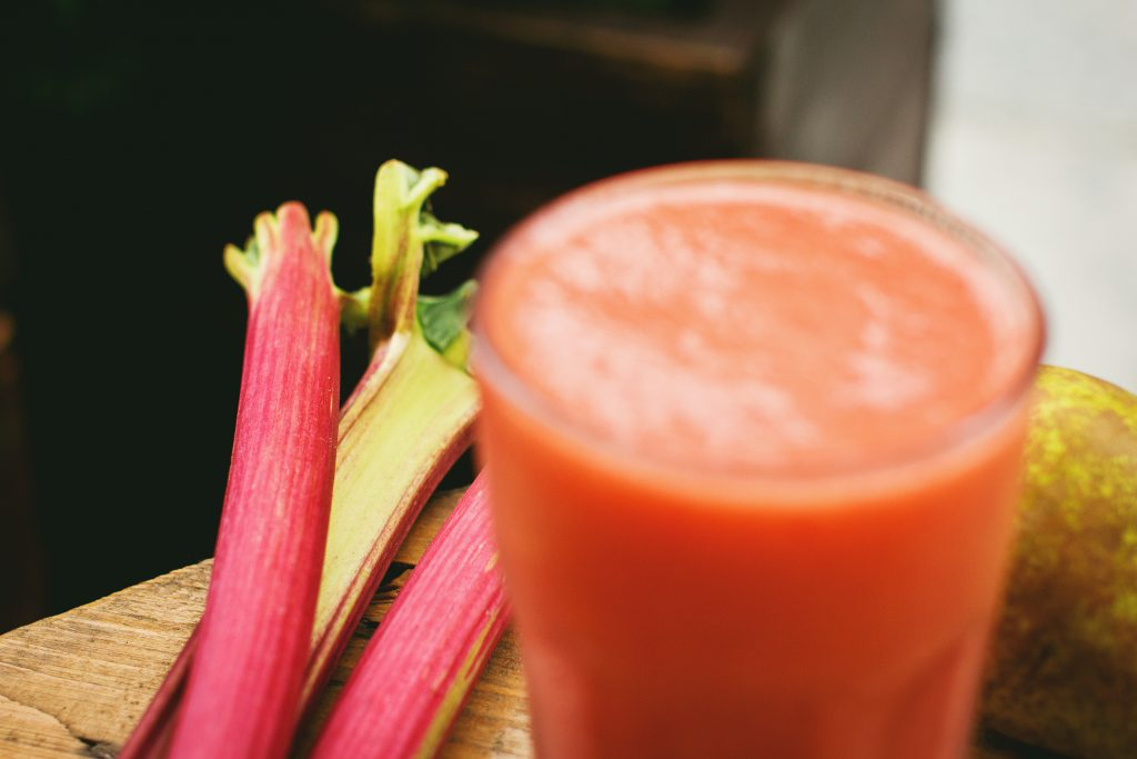 Pear and rhubarb smoothie 7 - free stock photo