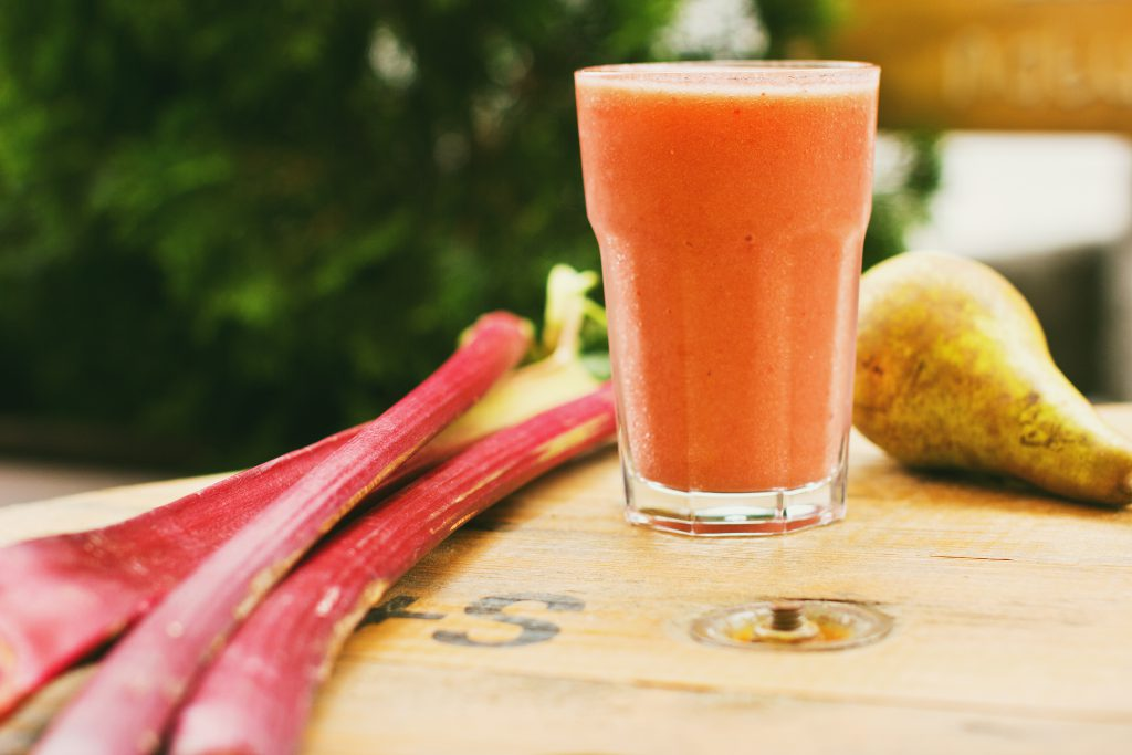 Pear and rhubarb smoothie 8 - free stock photo