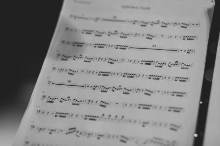 Sheet music - free stock photo