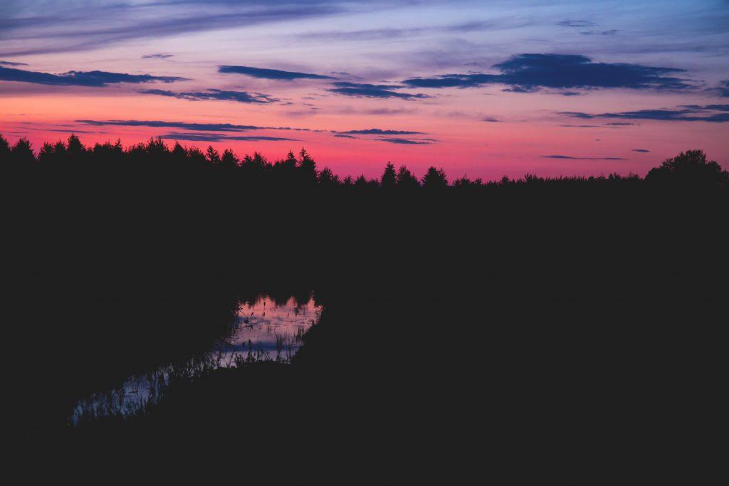 Sky at dusk - free stock photo
