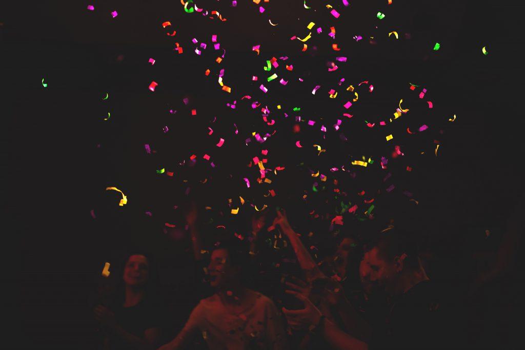 Confetti - free stock photo