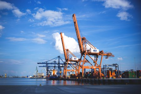 Container cranes - free stock photo