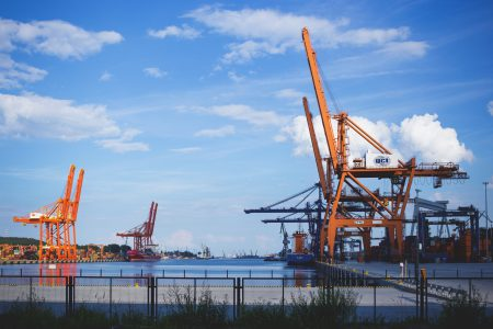 Container cranes 2 - free stock photo
