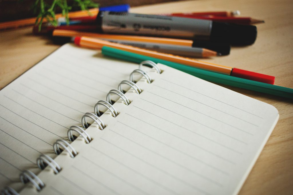 Open notebook - free stock photo