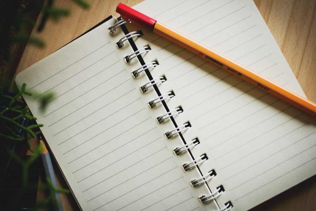 Open notebook 2 - free stock photo