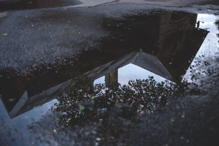 Reflection in the puddle 2 - free stock photo