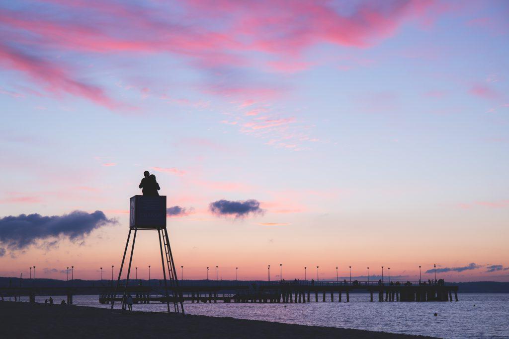 Sunset at seashore 3 - free stock photo