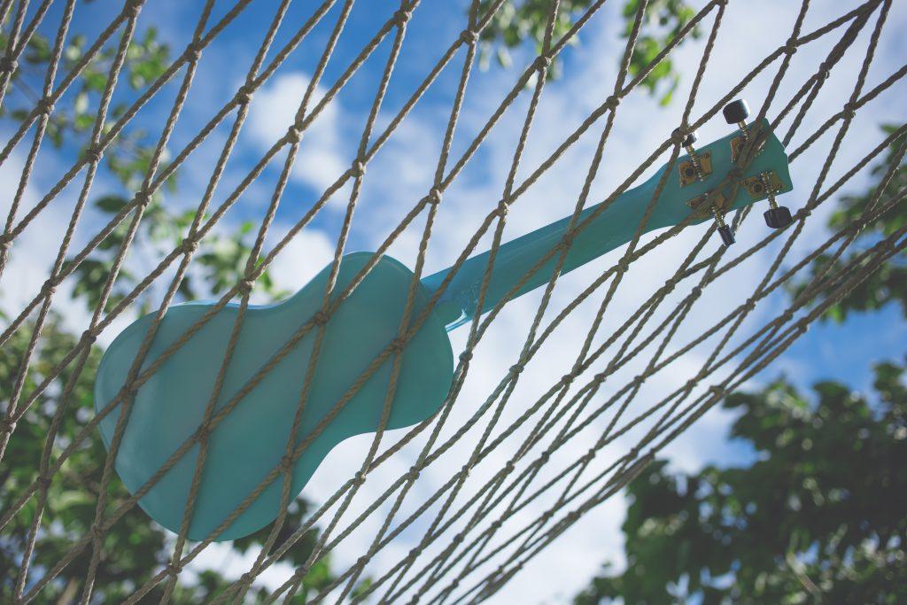 Ukulele on a hammock 3 - free stock photo