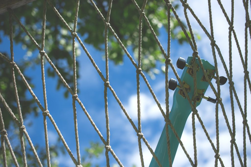 Ukulele on a hammock 2 - free stock photo