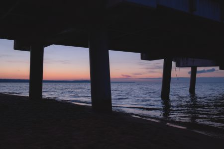 Under the pier - free stock photo