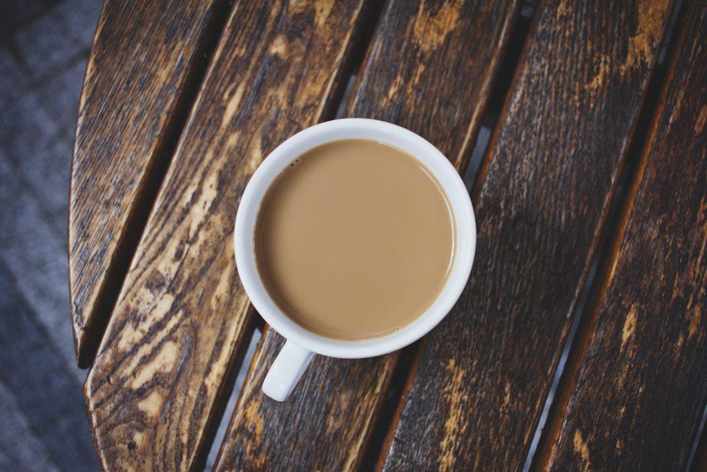 White coffee on the table - free stock photo