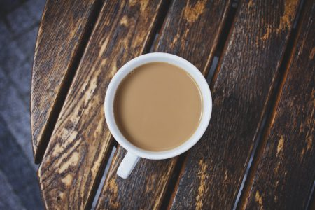 White coffee on the table - free stock photo
