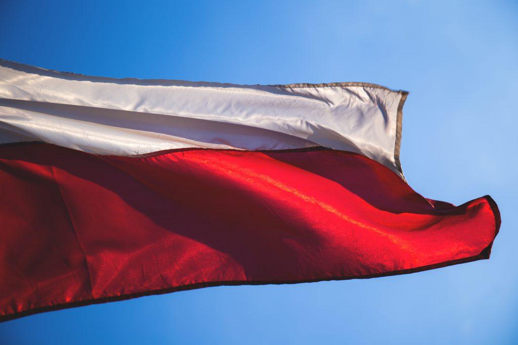 Polish flag 2 - free stock photo
