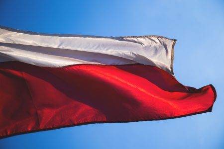 Polish flag 2 - free stock photo