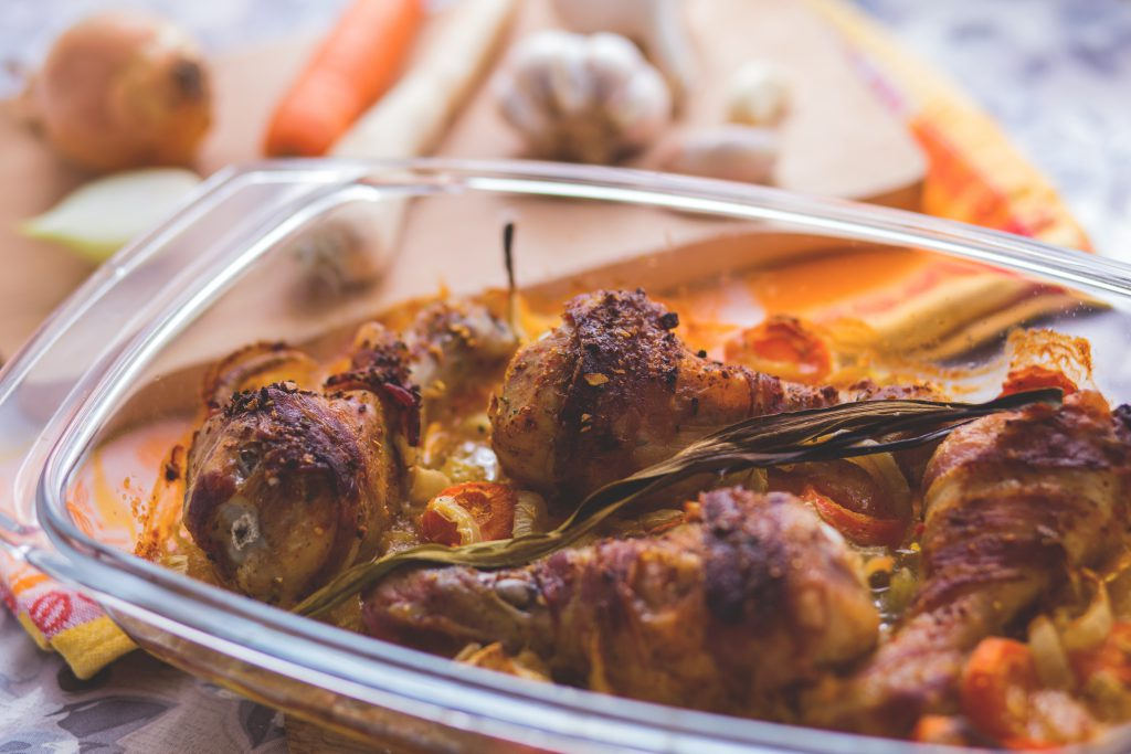 Chicken wrapped in bacon - free stock photo
