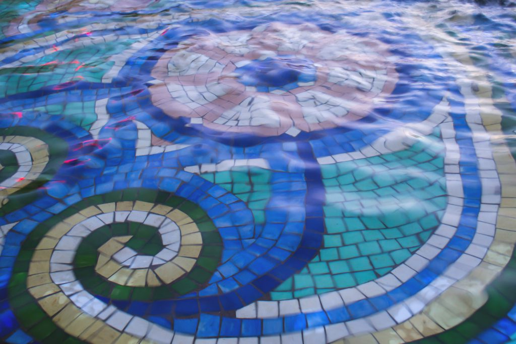 Colorful fountain - free stock photo