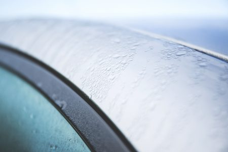 Dew on the car - free stock photo